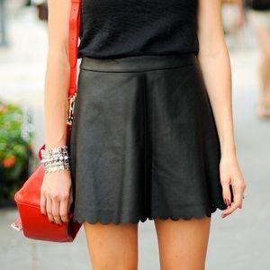 Club Monaco Scalloped Mini Skirt